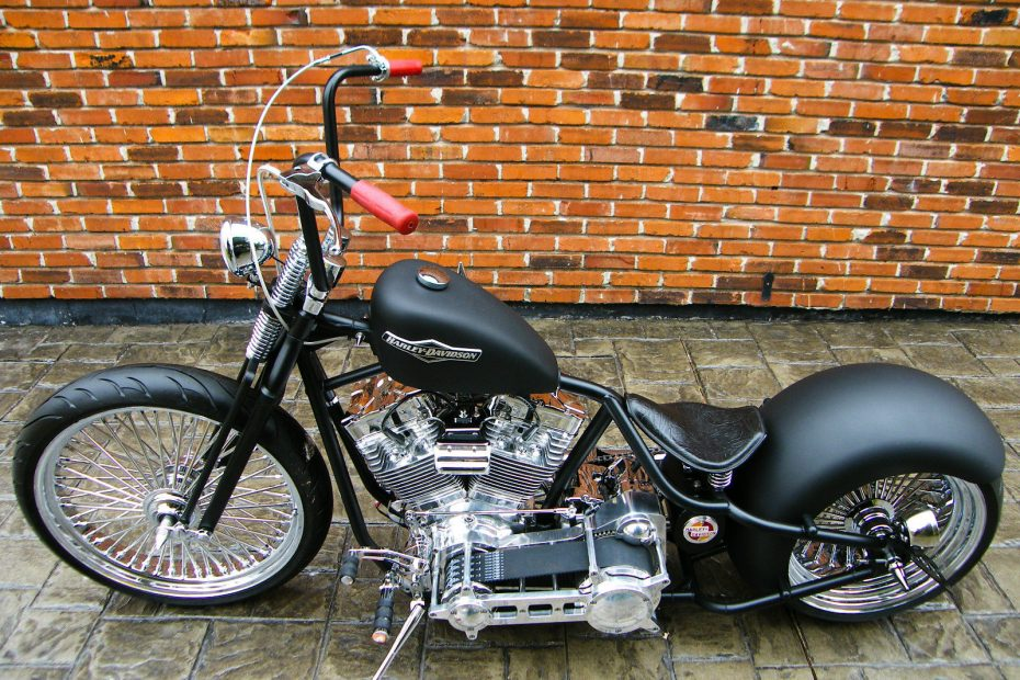 Custom Built Harley Davidson Bobber, Springer, Dropseat Motorcycle For Sale