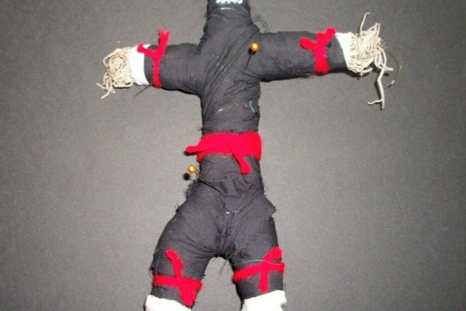 Revenge Curse Voodoo Doll Ritual Kit Pain Suffering Justice Easy Chant Pins Safe