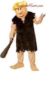 Barney Rubble Character Mascot Halloween Costume