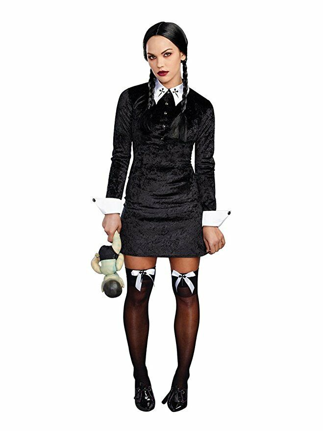 Velvet Adams Family Style Halloween Costume
