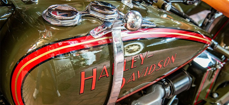 1928 Harley Davidson JD Motorcycle with Sidecar