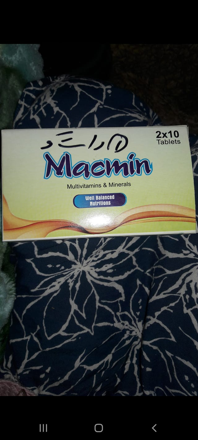 Macmin Vitamin Supplement, I couldn't find this stuff for sale, but I looked into it and it is a good multi vitamin like these. And remember they have to be taken with the choline to mimic the product the guy in the facebook group had.