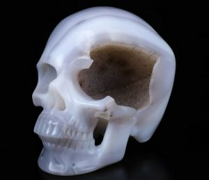 An Bizarre Carved Crystal Skull for Better Health?